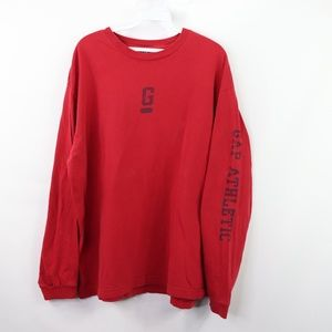 Vintage 90s Gap Mens Large Long Sleeve T Shirt Red